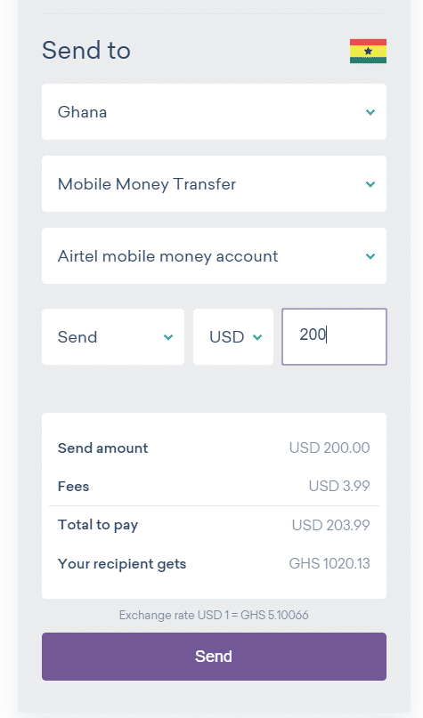 send money to Ghana with Worldremit 4