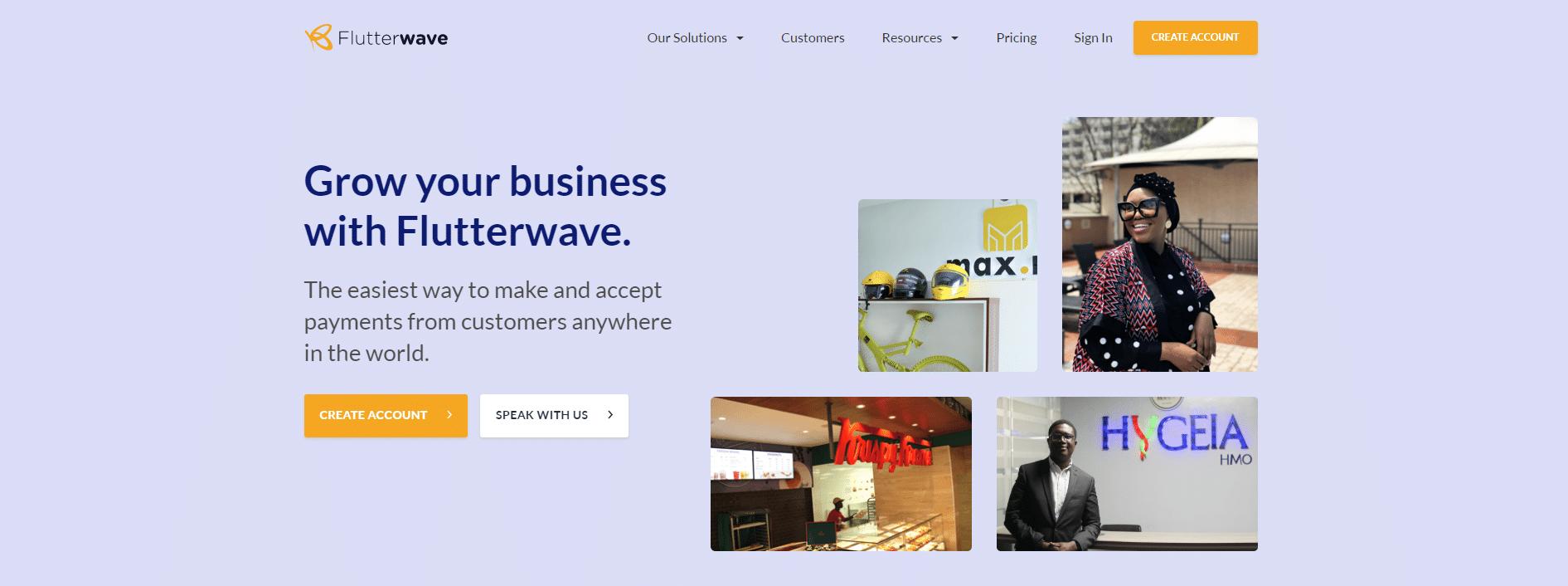 Flutterwave online payment gateway in Africa